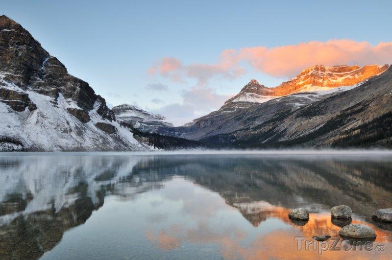 Fotka, Foto Jezero Bow v národním parku Banff (Kanada)