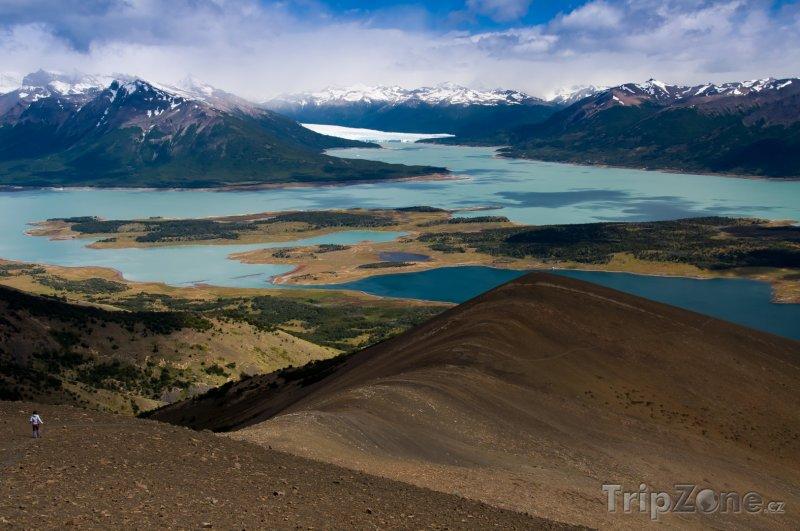 Fotka, Foto Jezero La Roca v parku Los Glacieres (Argentina)