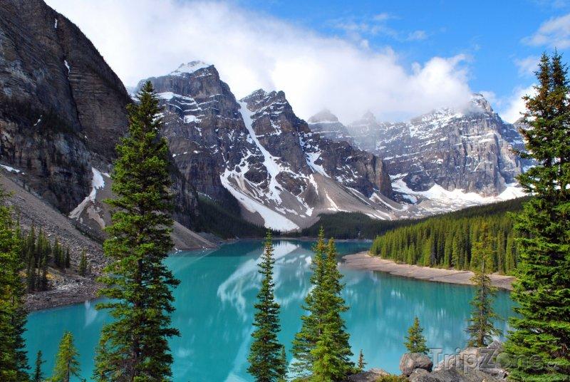 Fotka, Foto Jezero Moraine v národním parku Banff (Kanada)