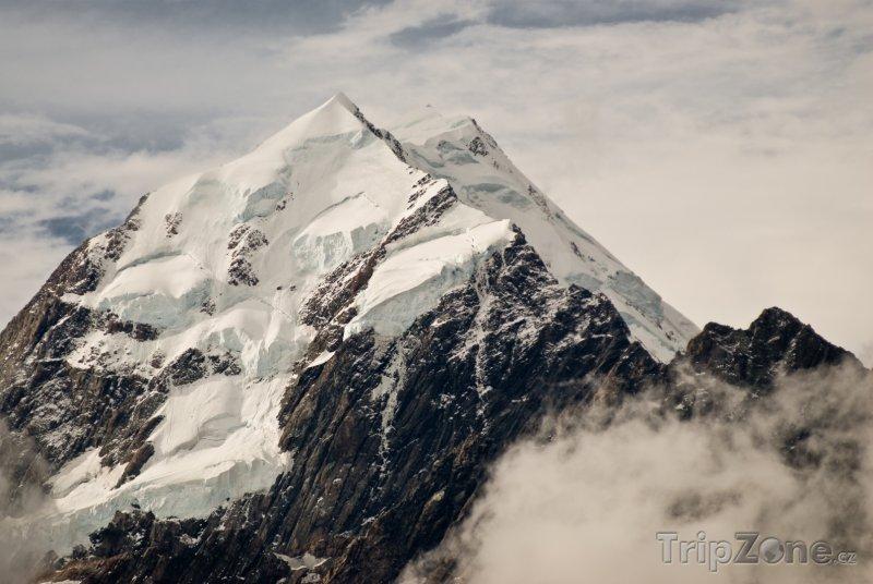 Fotka, Foto Jižní Alpy, hora Aoraki (Nový Zéland)