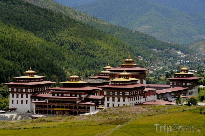 Fotka, Foto Klášter Tashichho Dzong v Thimphu (Bhútán)