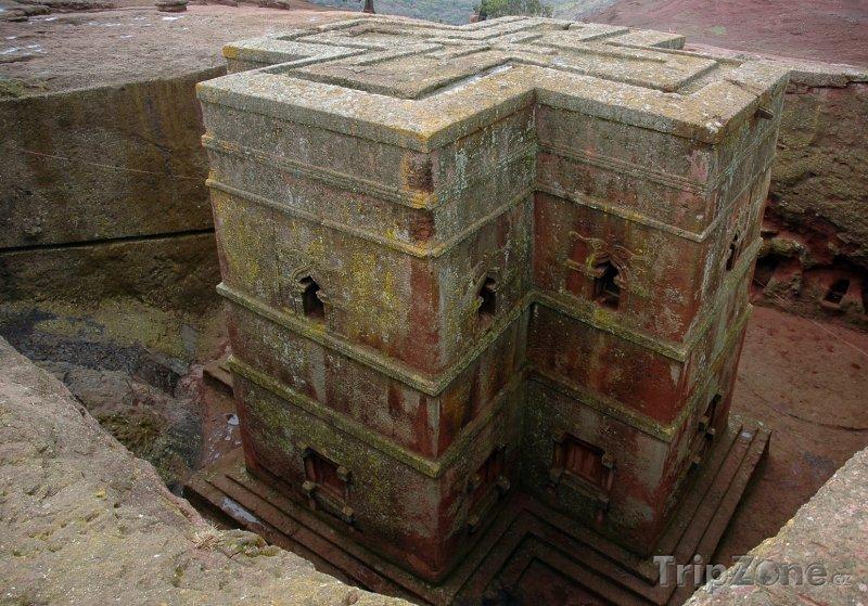 Fotka, Foto Kostel svatého Jiří v Lalibele (Etiopie)