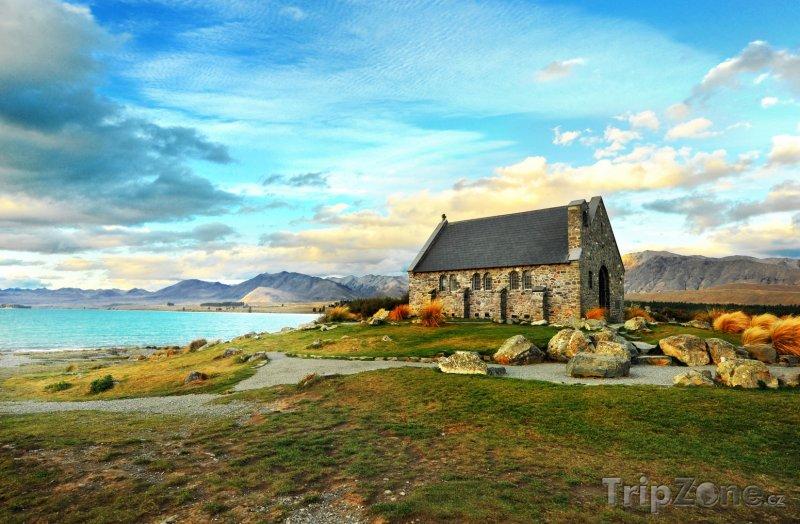 Fotka, Foto Kostel u jezera Tekapo (Nový Zéland)