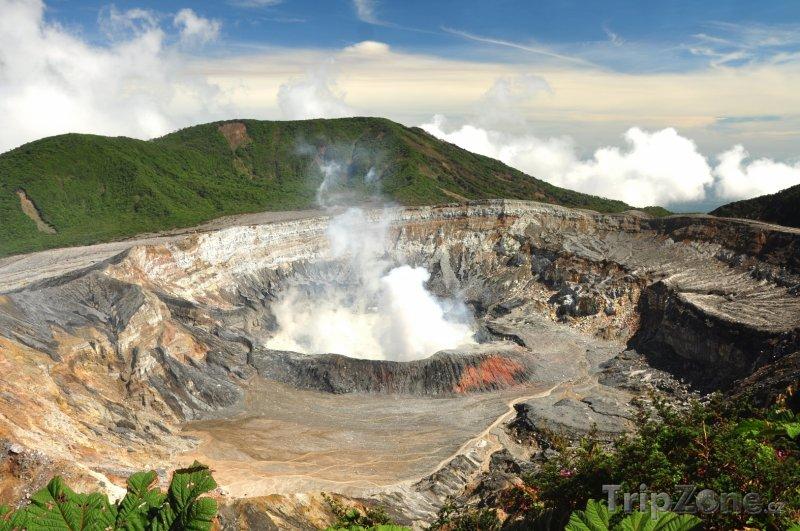 Fotka, Foto Kréter sopky Poás (Kostarika)