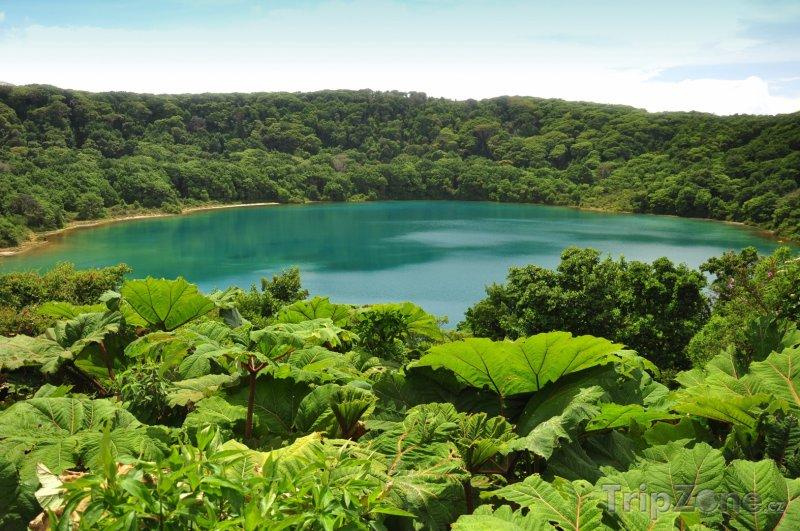 Fotka, Foto Laguna Botos v národním parku Poas (Kostarika)