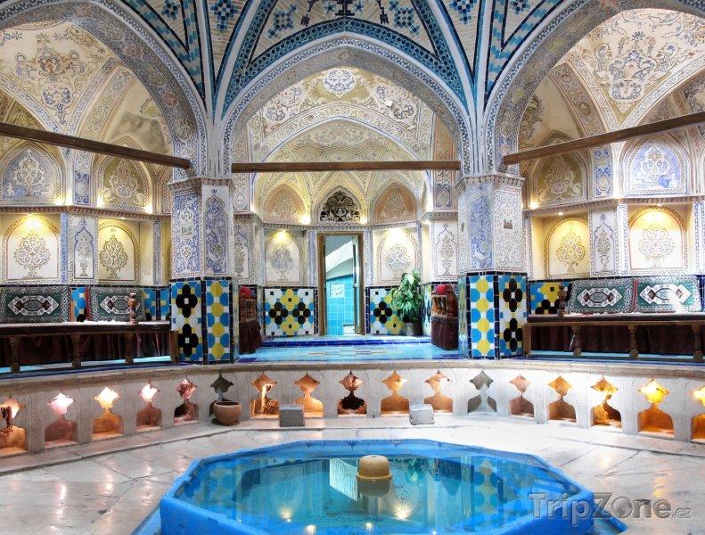 Fotka, Foto Lázně sultána Amira Ahmada v Kashanu (Írán)