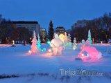 Ledové sochy v Edmontonu