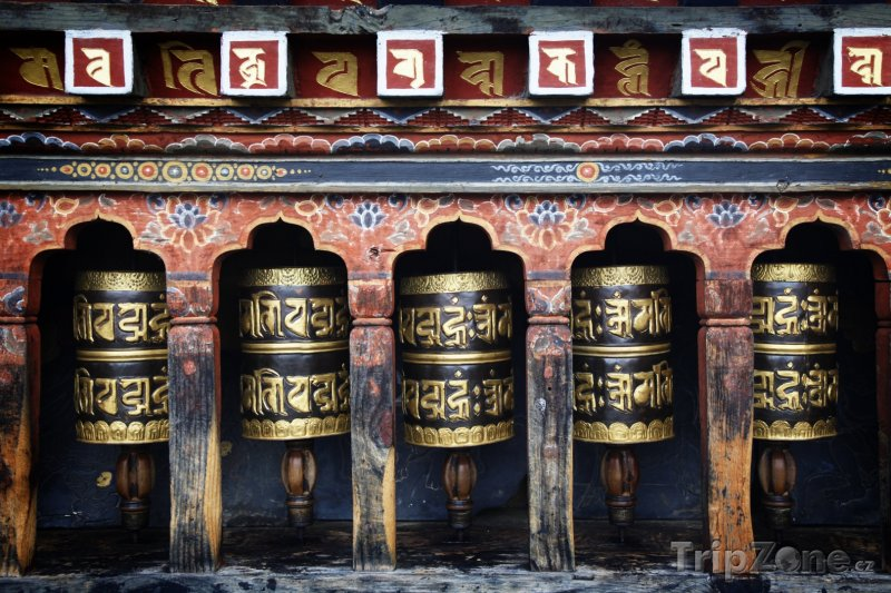 Fotka, Foto Mantra na modlitebním mlýnku (Bhútán)
