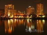 Město Manila v noci