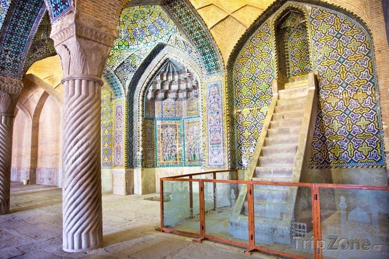 Fotka, Foto Modlitebna Vakílovy mešity v Širázu (Írán)