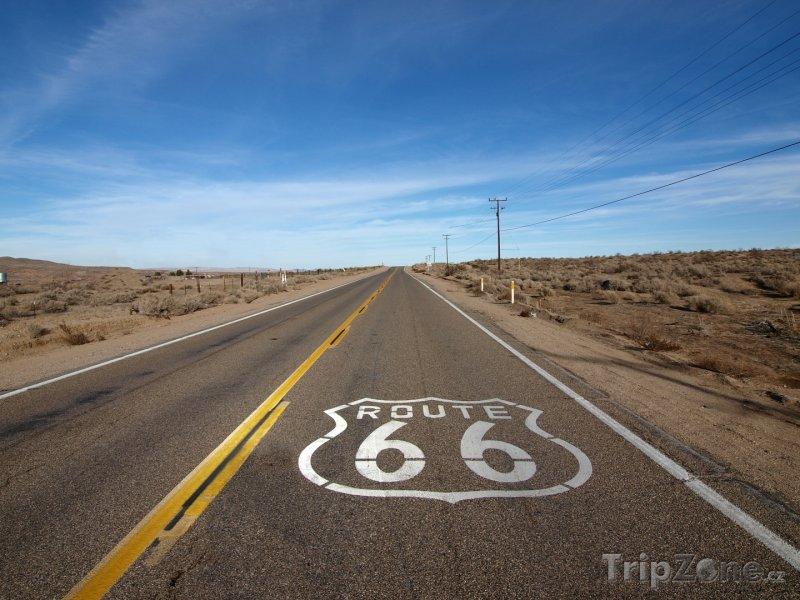 Fotka, Foto Mohavská poušť, Route 66 (USA)