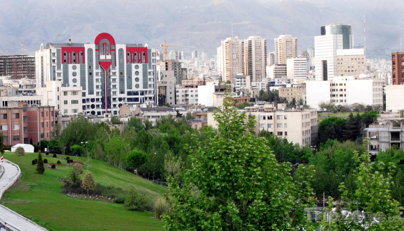 Fotka, Foto Mrakodrapy v Teheránu (Írán)