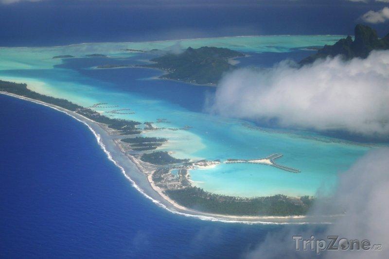 Fotka, Foto Mraky nad Bora Bora (Francouzská Polynésie)