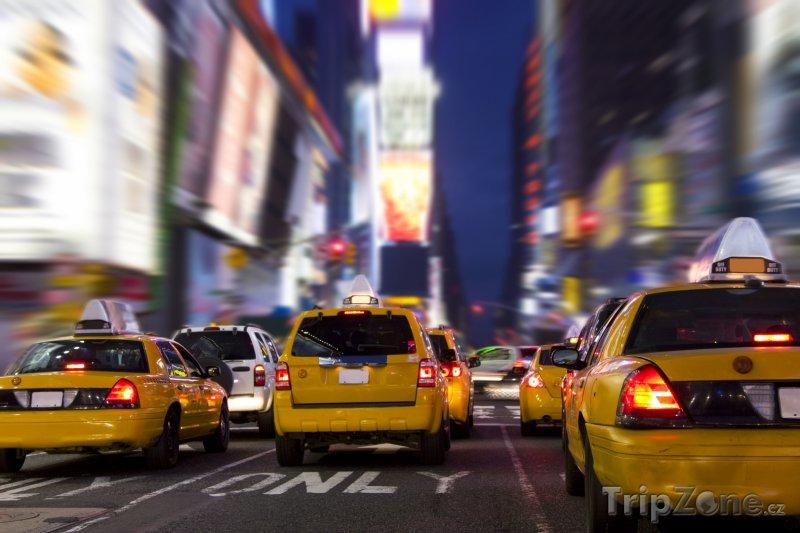 Fotka, Foto New York, provoz na Time Square (USA)