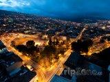 Noční město Tunja