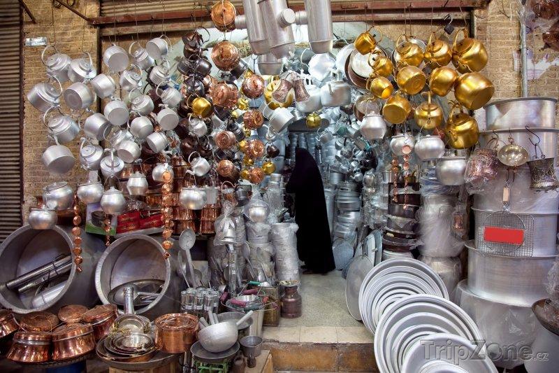 Fotka, Foto Obchod s hrncema v Širázu (Írán)