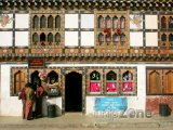 Obchody na trhu ve městě Thimphu