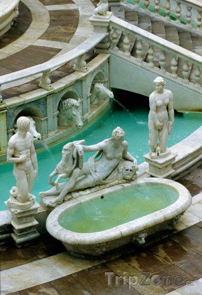 Fotka, Foto Palermo, fontána na Piazza Pretoria (Itálie)