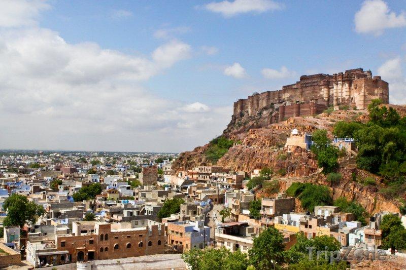 Fotka, Foto Pevnost Mehrangarh v Džódpuru (Indie)