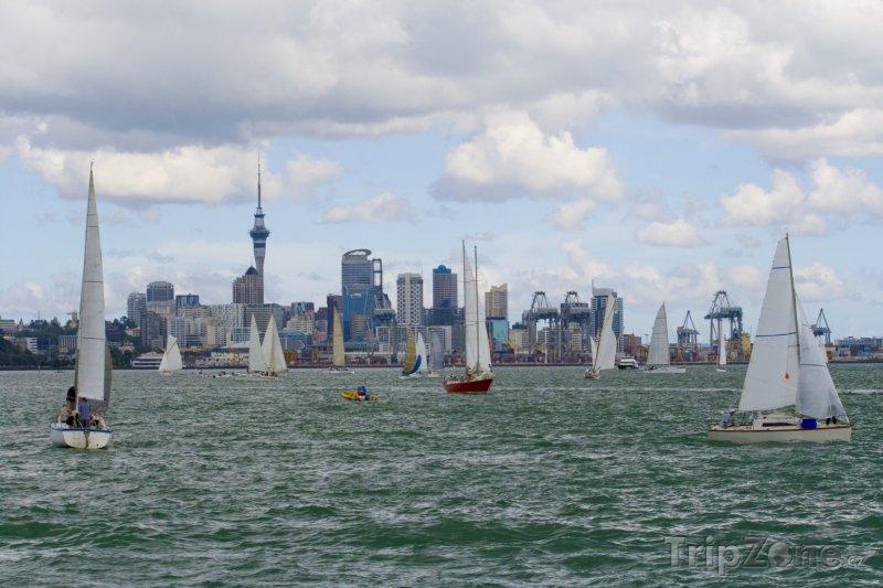 Fotka, Foto Plachetnice u Aucklandu (Nový Zéland)