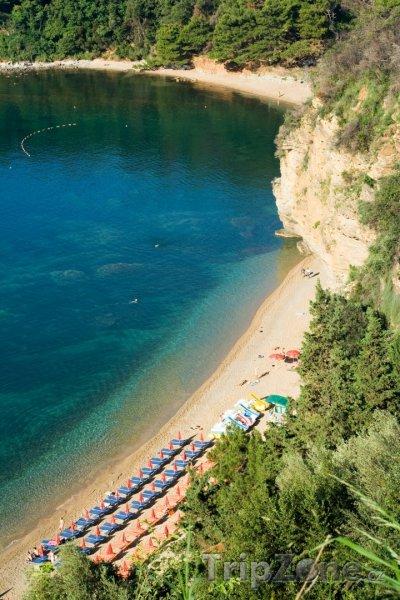 Fotka, Foto Pláž Mogren v Budvě (Černá Hora)