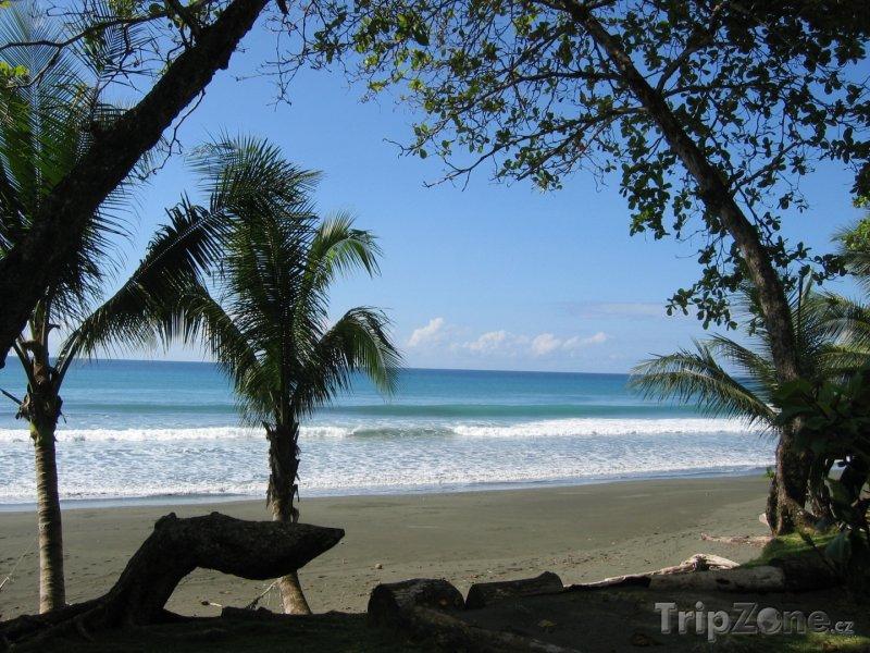 Fotka, Foto Pláž v národním parku Corcovado (Kostarika)