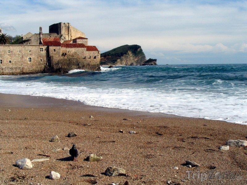 Fotka, Foto Pláž ve městě Budva (Černá Hora)