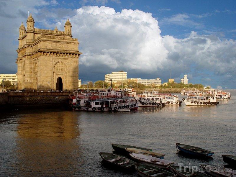 Fotka, Foto Pobřeží Bombaje s Bránou Indie (Indie)