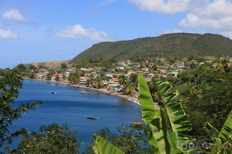 Fotka, Foto Pobřeží města Roseau (Dominika)