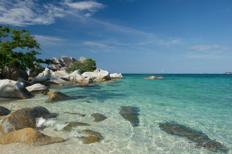 Fotka, Foto Pobřeží ostrova Belitung (Indonésie)