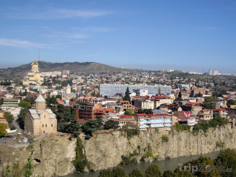 Fotka, Foto Pohled na historické centrum Tbilisi (Gruzie)