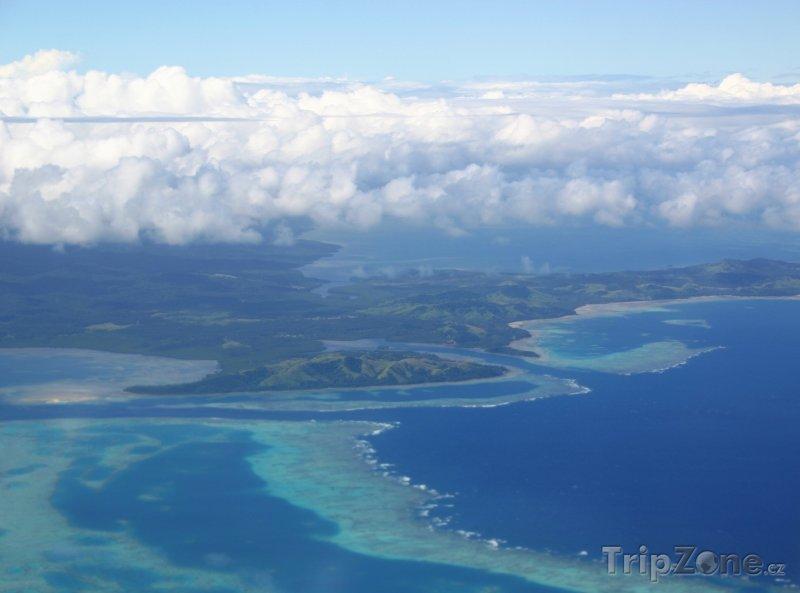 Fotka, Foto Pohled na tropické ostrovy (Fidži)