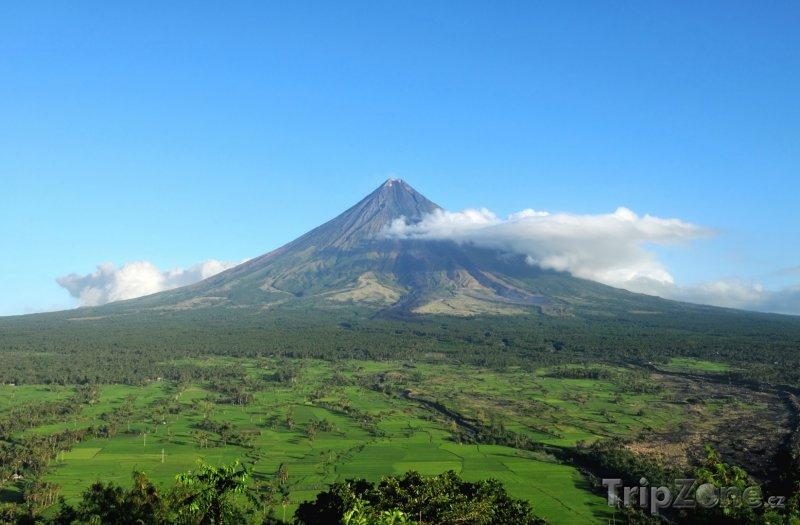 Fotka, Foto Pohled na vulkán Mayon (Filipíny)