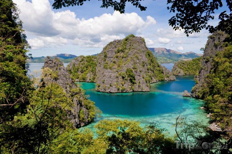 Fotka, Foto Pohled z ostrova Palawan (Filipíny)