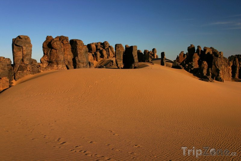 Fotka, Foto Pohoří Ahaggar na Sahaře (Alžírsko)