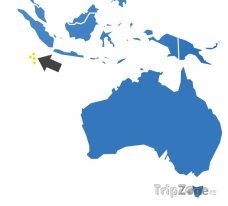 Poloha Kokosových ostrovů na mapě