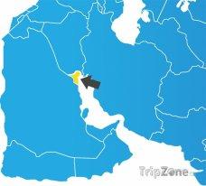Poloha Kuvajtu na mapě Asie