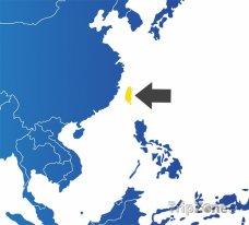 Poloha Tchaj-wanu na mapě Asie