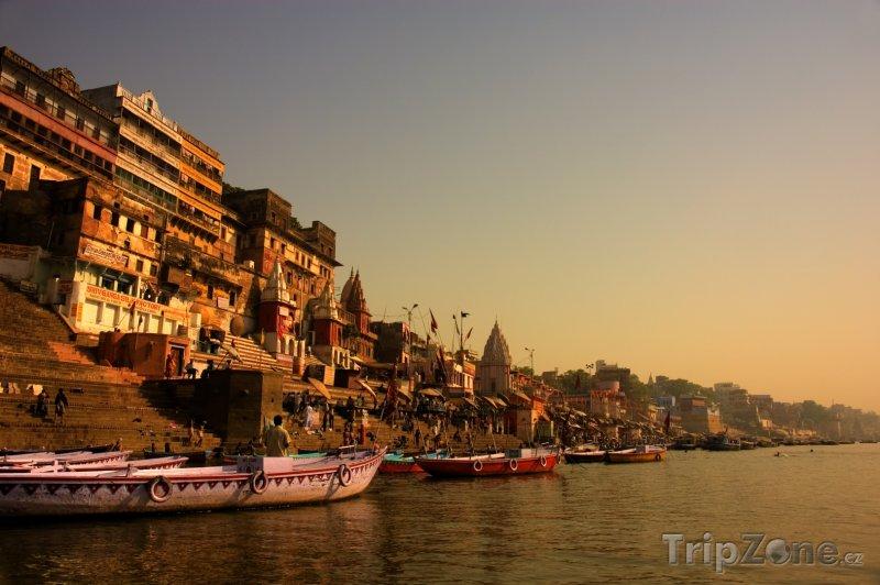 Fotka, Foto Řeka Ganga ve Váránsí (Indie)