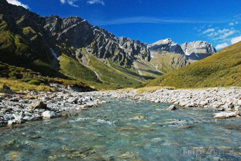 Fotka, Foto Řeka v horách (Nový Zéland)