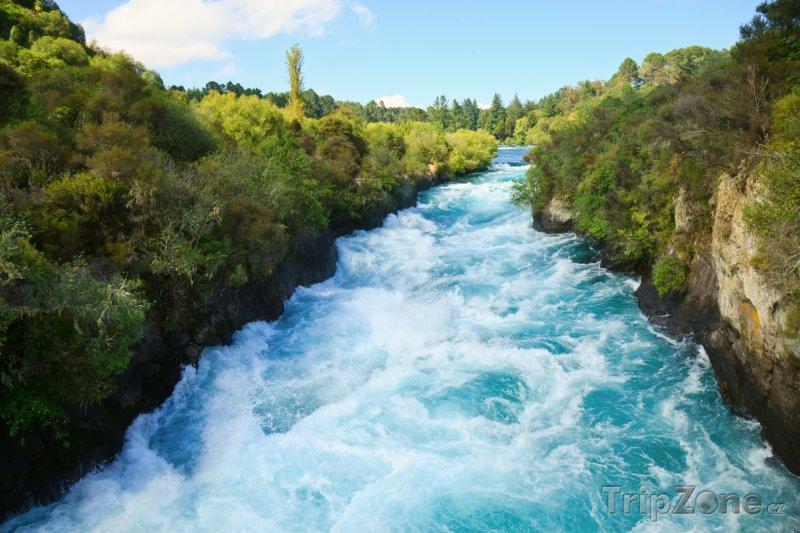 Fotka, foto řeka waikato (nový zéland)