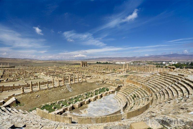 Fotka, Foto Římský amfiteátr v Timgadu (Alžírsko)