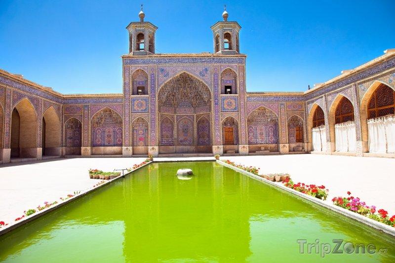 Fotka, Foto Růžová mešita v Širázu (Írán)