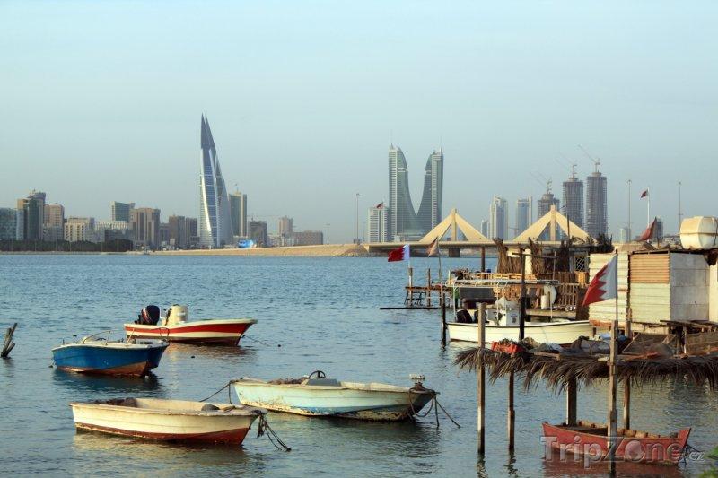 Fotka, Foto Rybářské loďky v Manámě (Bahrajn)