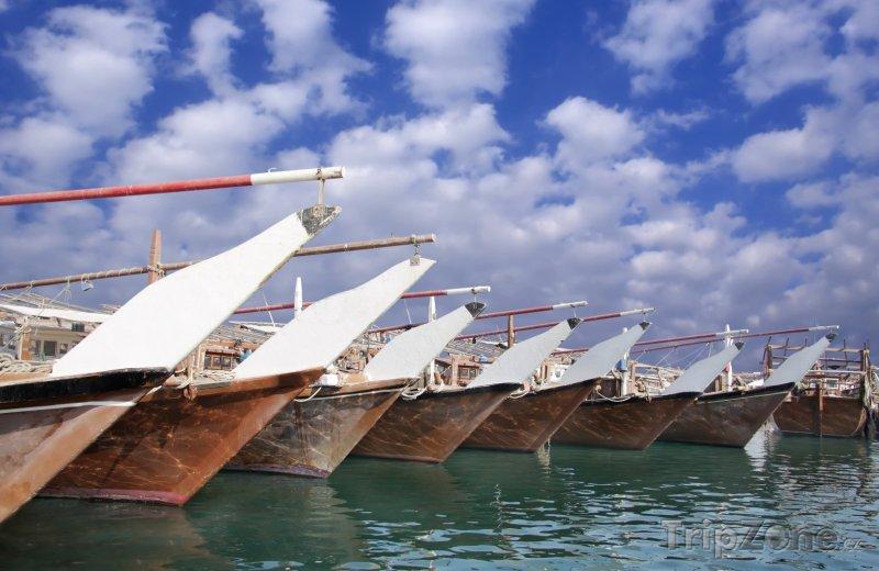 Fotka, Foto Rybářské plachetnice v přístavu (Bahrajn)