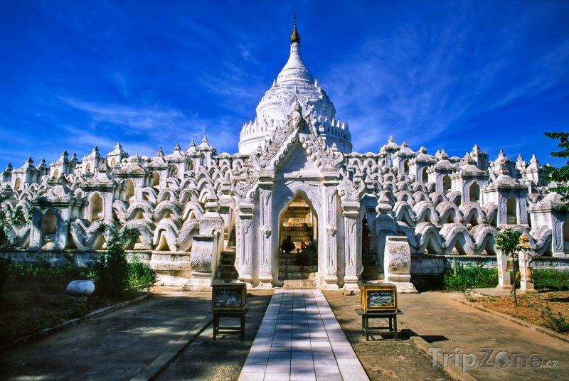 Fotka, Foto Sandanami pagoda ve městě Mandalaj (Barma)