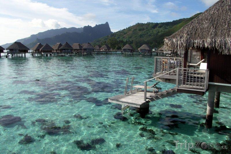 Fotka, Foto Sheraton resort na ostrově Moorea (Francouzská Polynésie)