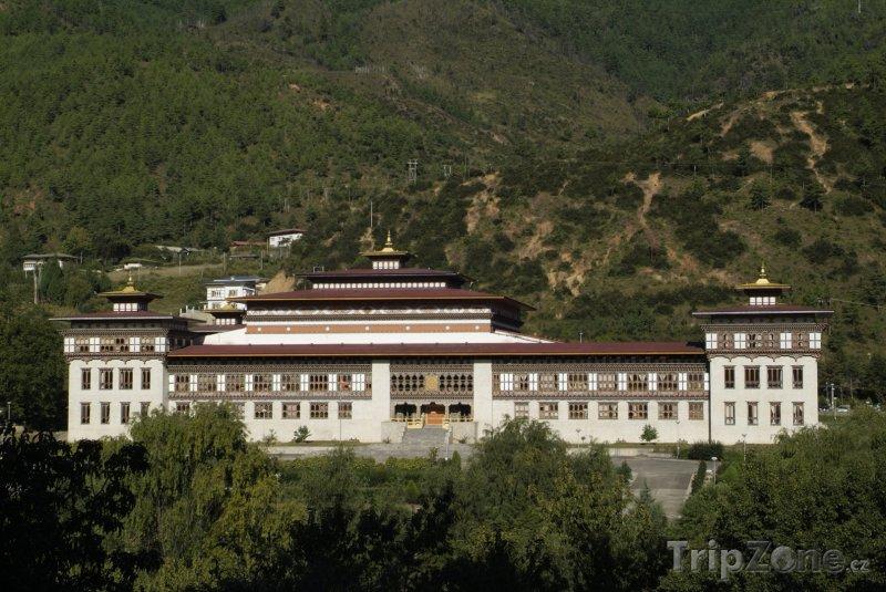 Fotka, Foto Sídlo parlamentu v Thimphu (Bhútán)