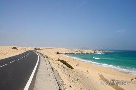 Silnice na sotrově Fuerteventura
