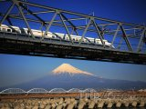 Šinkanzen a hora Fudži